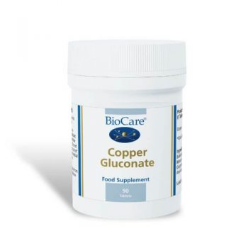 Biocare Copper Gluconate 90 Tablets. Vitamins and minerals