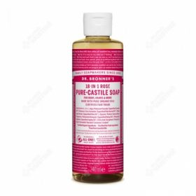 Dr. Brooner's PURE-CASTILE LIQUID SOAP Rose 240ml. Cleansers