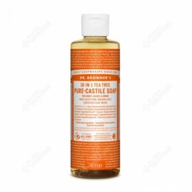 Dr. Brooner's PURE-CASTILE LIQUID SOAP Tea Tree 240ml. Cleansers