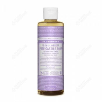 Dr. Brooner's PURE-CASTILE LIQUID SOAP Lavender 240ml. Cleansers