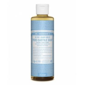 Dr. Brooner's PURE-CASTILE LIQUID SOAP Baby-Mild 240ml. Cleansers