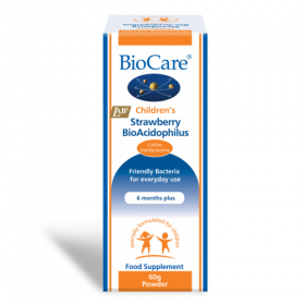 Biocare Children's Strawberry BioAcidophilus 60g. Powder