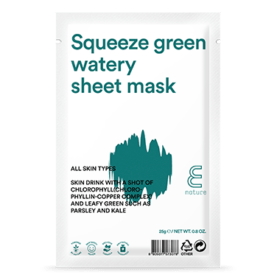 E NATURE E Nature Squeeze Green Watery Sheet Mask. Sheet masks