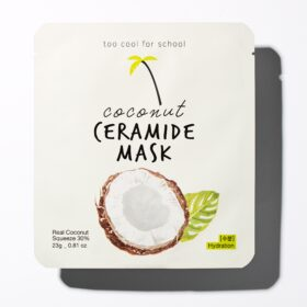 Too Cool for School Coconut Ceramide Mask. Sheet masks