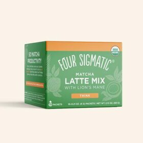 Four Sigmatic Matcha Latte With Lion's Mane. Mushroom drinks