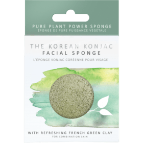 Konjac Sponge KONJAC PREMIUM FACIAL PUFF SPONGE WITH FRENCH GREEN CLAY. Sponges