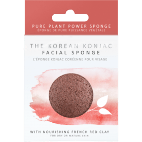Konjac Sponge KONJAC PREMIUM FACIAL PUFF SPONGE WITH FRENCH RED CLAY. Sponges