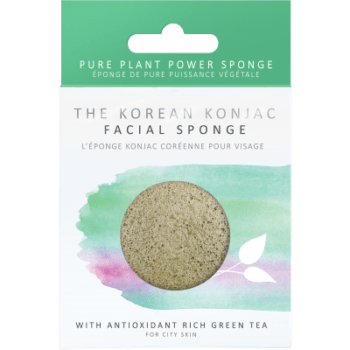 Konjac Sponge KONJAC PREMIUM FACIAL PUFF SPONGE WITH GREEN TEA. Sponges