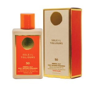 Soleil Toujours 100% MINERAL SUNSCREEN GLOW SPF 30. Sunscreen for body