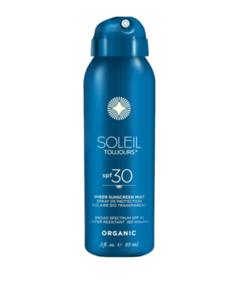 Soleil Toujours ORGANIC SHEER SUNSCREEN MIST SPF 30 – TRAVEL. Adults