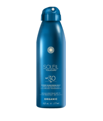 Soleil Toujours ORGANIC SHEER SUNSCREEN MIST SPF 30. Body sun protection