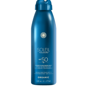 Soleil Toujours ORGANIC SHEER SUNSCREEN MIST SPF 50. Adult special skin care