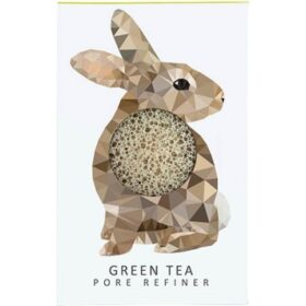 Konjac Sponge KONJAC MINI PORE REFINER WOODLAND RABBIT WITH GREEN TEA. Sponges
